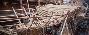 Comienza la construcción de la primera cubierta de la nao San Juan