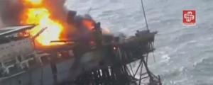 Tragedia en una plataforma en el mar Caspio