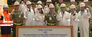 Corte de chapa del nuevo buque de abastecimiento de LNG de Shell