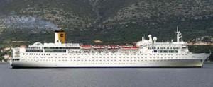 El Costa Allegra remolcado a las Islas Seychelles