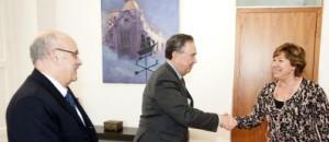 La alcaldesa de Cartagena recibe a la AINE