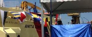 Astilleros de Murueta bota la draga de succión Anita Conti