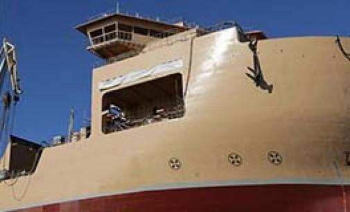Botadura del buque multipropósito Isaac Newton