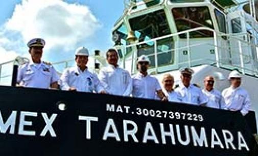 Entrega del remolcador Pemex Tarahumara