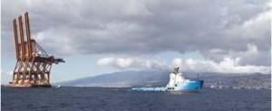 Instalan tres grúas post panamax en la terminal de contenedores de Tenerife