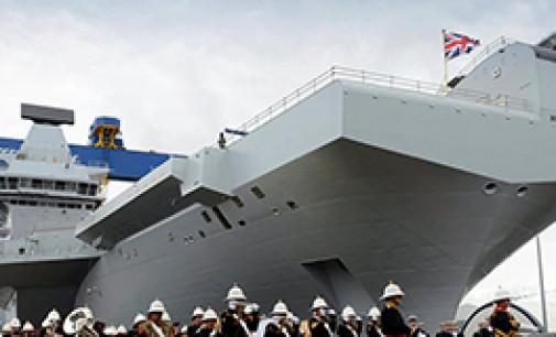Botadura del portaaviones HMS Queen Elizabeth