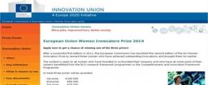 2ª edición del Premio de la UE para mujeres innovadoras