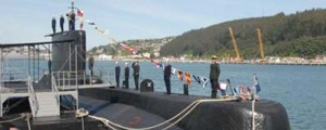 Entrega del submarino Huancavilva