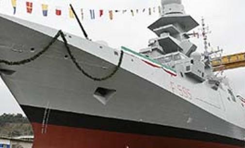 Botada la sexta fragata multipropósito Luigi Rizzo
