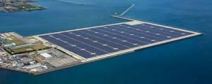 Futuras plantas solares flotantes para Japón