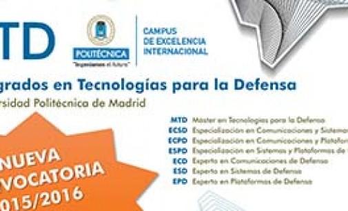 Cursos de postgrado en Tecnologías para la Defensa
