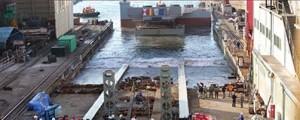 Vulcano bota con éxito la rampa Ro-Ro para el Puerto de Vigo