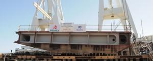 Navantia pone la quilla del flotel para Pemex