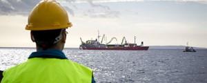 Tendido del cable entre Ibiza y Mallorca