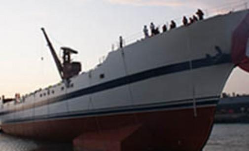 Bautizo y botadura del buque escuela Unión
