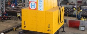 Estructura modular flotante para instalaciones offshore
