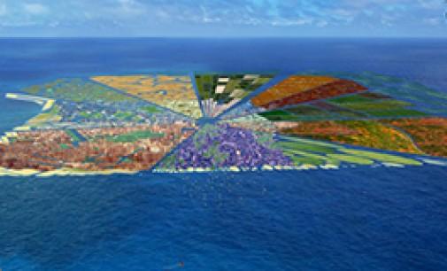 La isla de plástico reciclado