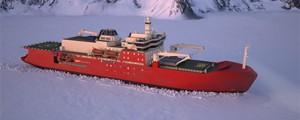 Nuevo diseño de rompehielos para la Antártida