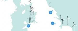 Mapa interactivo de parques eólicos del Reino Unido