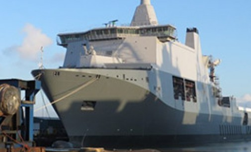 El mayor buque de la marina de guerra holandesa