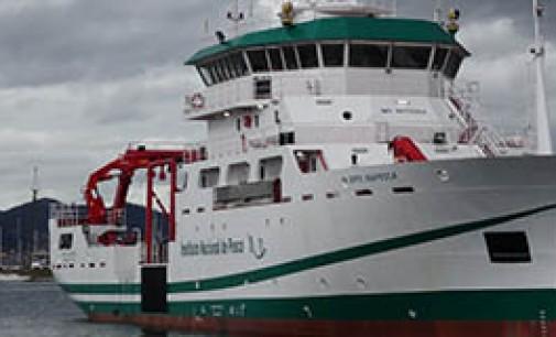 Entrega del buque de investigación para INAPESCA