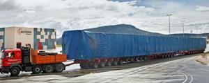 Acciona recibe el molde para fabricar palas eólicas de 61,2 m