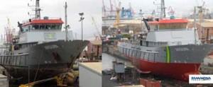 Finaliza la reparación de la patrullera Arguin en Zamakona Yards Canarias