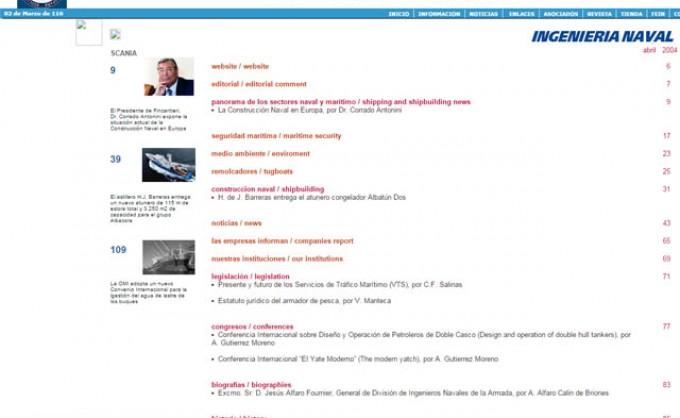 Historia de la web de Ingeniería Naval
