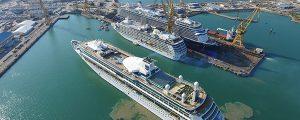 4 cruceros a la vez en Navantia reparaciones Cádiz