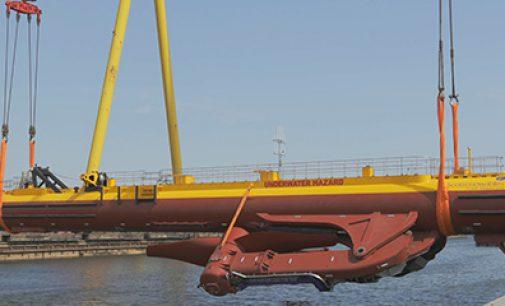 Puesta a flote la mayor turbina mareomotriz del mundo