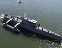 El trimarán no tripulado para la US Navy finaliza pruebas de mar