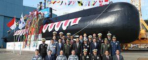 DSME bota el segundo submarino para Indonesia