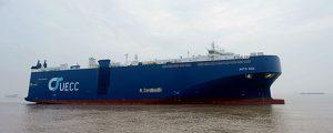 UECC recibe el primero de sus dos car-carriers de LNG
