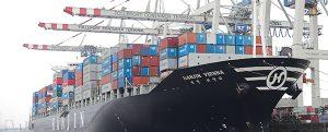 La flota de Hanjin ha descargado casi toda su carga