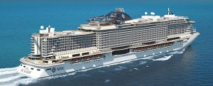Flotadura del crucero MSC Seaside