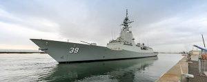 El primer destructor antiaéreo comienza las pruebas de mar