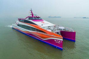 ncat Crowther ha entregado el catamarán de pasajeros Shi Zi Yang 7 en China.