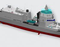 Corte de chapa del primer PPA para la Armada italiana