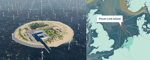 Islas artificiales de energía en el mar del Norte