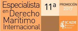 XI edición del curso on-line de Especialista en Derecho Marítimo Internacional