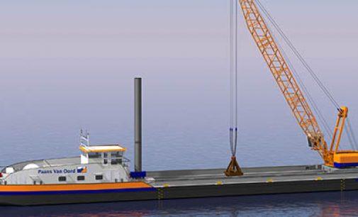 Primer buque grúa propulsado con GNL
