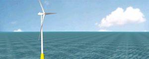 Torre articulada para eólico de aguas profundas