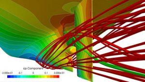 Pressure_distribution_and_streak_lines_DNVGL
