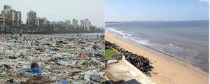 Los ciudadanos limpian 5.000 t de escombros de su playa