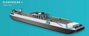 La pontona Titan LNG FlexFueler1 mejorará el suministro de GNL en la región ARA