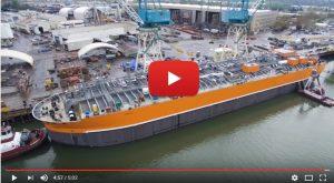 Así se construye una barcaza para el transporte de amoniaco