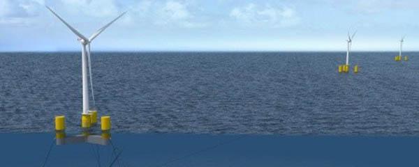cimentación para aerogeneradores offshore flotantes