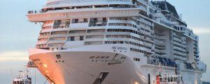 Entrega del crucero MSC Meraviglia