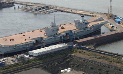 El HMS Queen Elizabeth comienza sus dos años de pruebas de mar