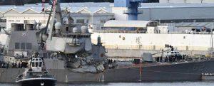 Un error humano fue la causa del choque entre el USS Fitzgerald y el ACX Crystal